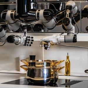 Robot de cocina con brazos